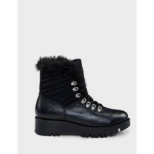RUDSAK Tsary Black Lace-Up Winter Hiking Boots